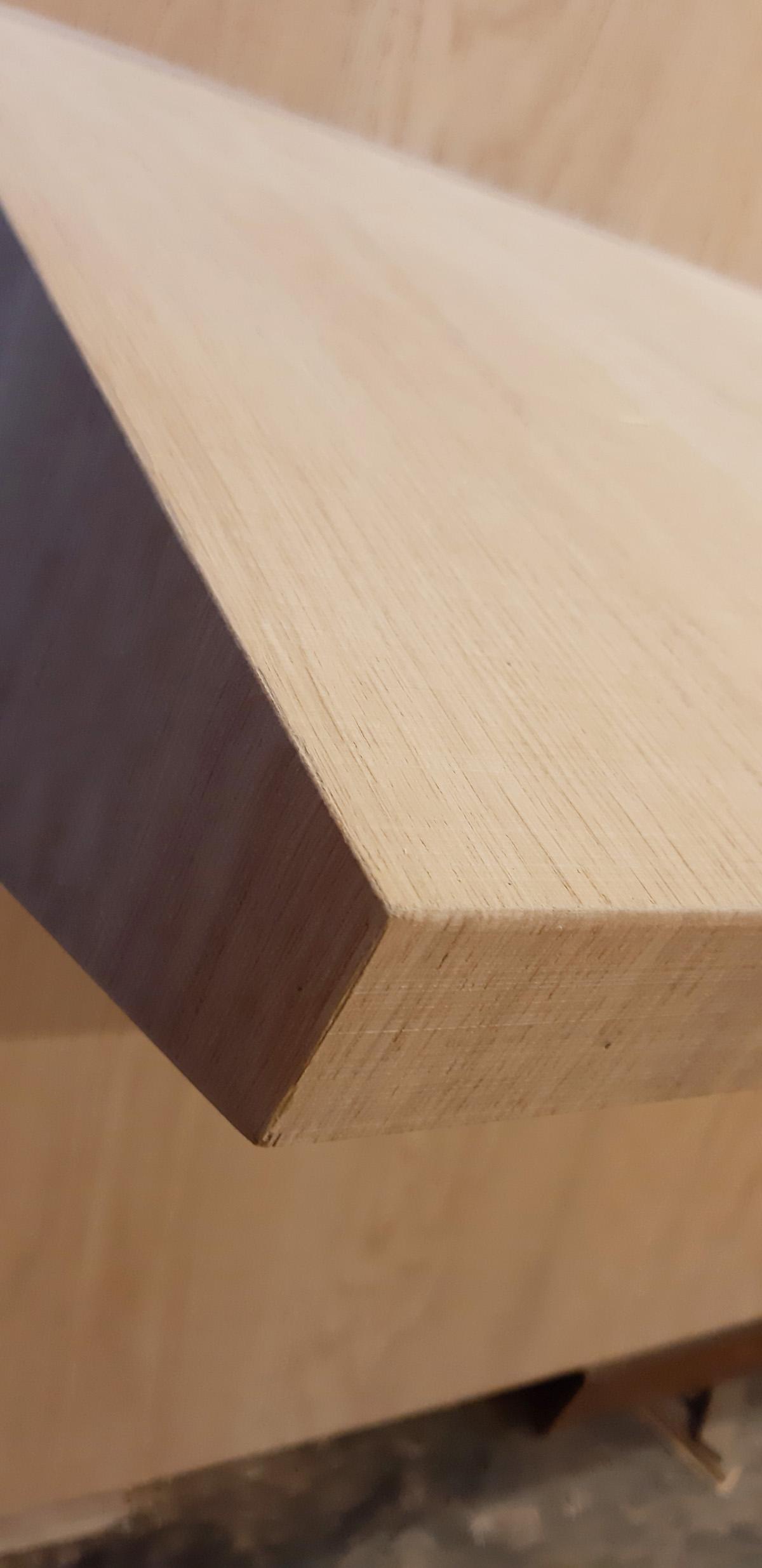 Detail zitbank eik