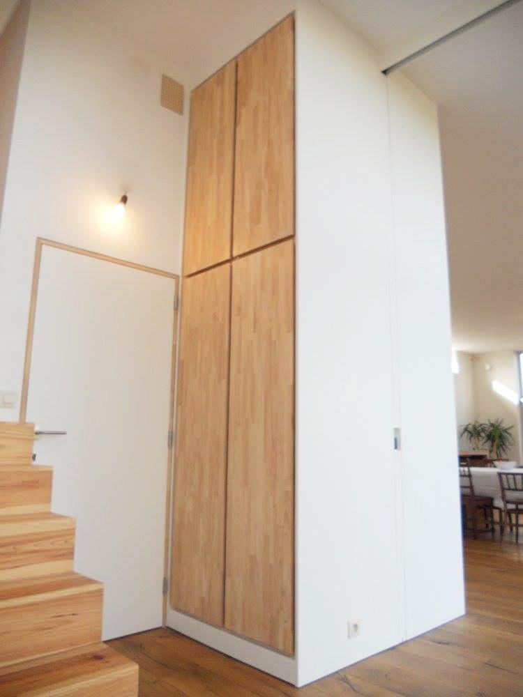 Inbouwkast Rubberwood deuren